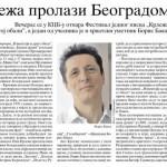 POLITIKA - M. Vulićević - Krleža prolazi Beogradom