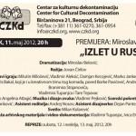"""DANAS - Najava premijere predstave """"Izlet u Rusiju"""""""